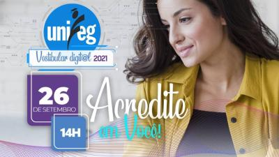 Amanhã é dia de Vestibular Digital Unifeg 2021